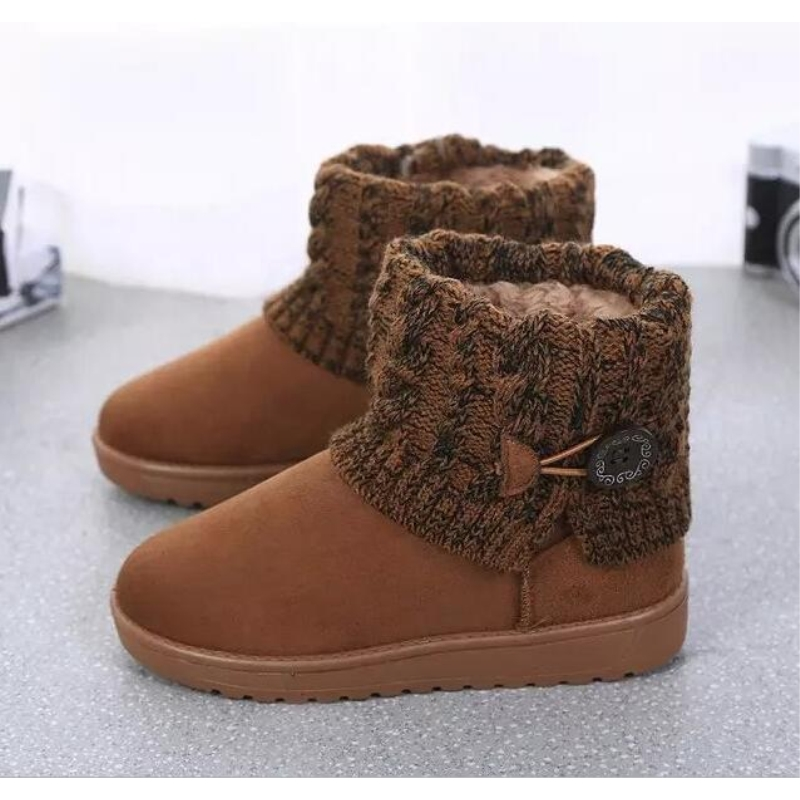 6 color Women Boots Warm Fur Cotton Winter Shoes High Quality Cozy Women's Soft Ankle Snow Boots Flat Shoes Woman winter warm snow boots cotton shoes flat heels knee high boots women boots wholesale high quality