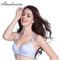Amadrenino Blue Women Nursing Bra Maternity Bras Pregnant Mother Clothes BreastFeeding Wireless Push Up Seamless Bra Only C Cup