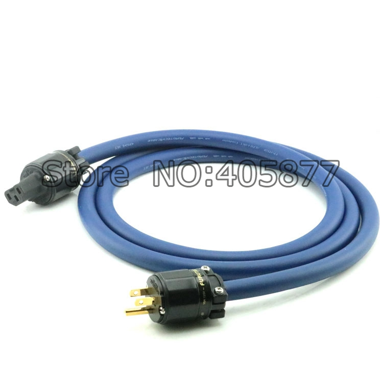Hi-End Audio FP-3TS20 Alpha OCC Copper Power cable with FURUTECH FI-11(G)+ FI-11M(G) US Power Cord cable HIFI mpsource tena ac hi end 99 99997% occ 24k gold plated 3pin power cord cable speaker audio dvd cd amplifier ac power cable