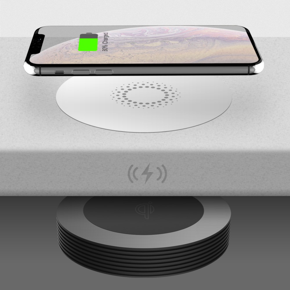 2019 Smart  Invisible Fast True Wireless Charger Up To 40mm Away With Qi Wireless Charger For Long Distance
