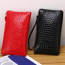 2019 Hot Sale Simple Fashion Women PU Leather Wallet Purse Card Phone H