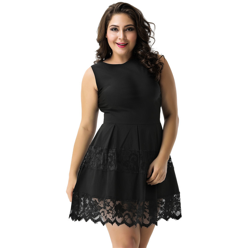 Black Envio Gratis Vestido Plus Size Robe Ete Women Sexy Dress Vestido Casual RY80049 Skater Dress Plus Size Robes