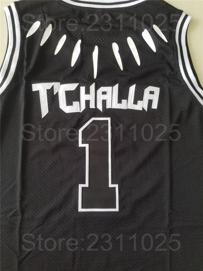 80d5323ab Ediwallen Movie 1 Tchalla Jersey Men Basketball Black Panther WAKANDA  Jerseys Team Black For Sport Fans Breathable Free Shipping-in Basketball  Jerseys from ...