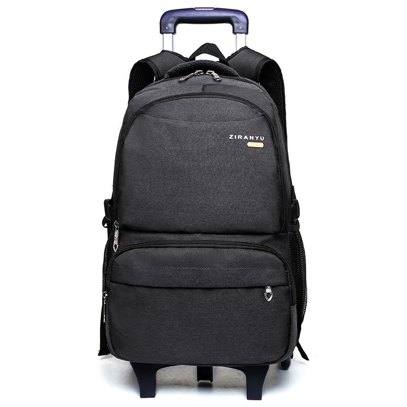 High capacity Student Shoulder Backpack Rolling Luggage Children Trolley Suitcases Travel Duffle Wheeled School Bag