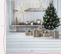 HUAYI 8x8ft(2.5x2.5m) Christmas Background photography Newborn Photo Studio Prop Backdrop XT 5669