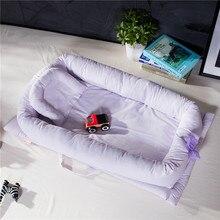 Детское спальное гнездо, кровать для новорожденных, переносная съемная и моющаяся кровать для малыша для детей, детская хлопковая колыбель, спальное место
