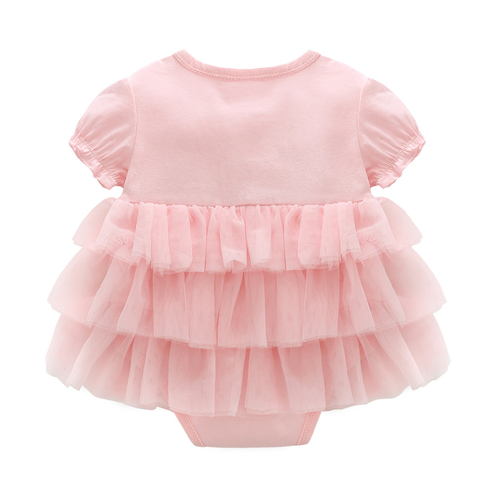 97a0714988af summer baby girl dress baptism for newborn baby girl clothes pink set 2  kids flower dresses for girls wedding baby clothing-in Dresses from Mother    Kids on ...
