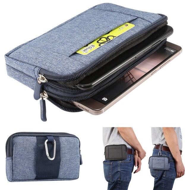 0c7f2da1950 Casual Mobile Pouch Phone Case Belt Clip Holster Nylon Zipper Men Waist Bag  Outdoor Gear Running Sport Fanny Pack Wallet Bag