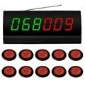 Sistema de chamada sem fio. garçom sistema de paginação para pcs cinema.10 buzzer serviço de APE700 vermelho, 1 pc receptor de sinal de APE2600
