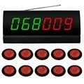 Sistema de llamada sin hilos. servicio de camarero sistema de megafonía para cinema.10 pcs APE700 zumbador de rojo, 1 unid receptor de señal de APE2600