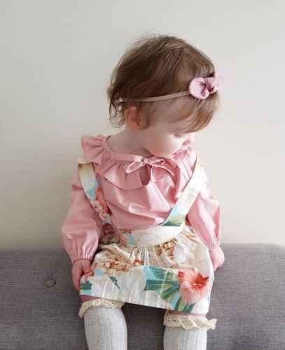 Летние топы принцессы с длинными рукавами для маленьких девочек Цветочный