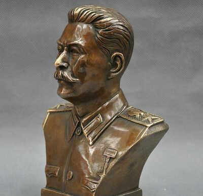 6 ''Rosyjski Lider Joseph R0712 Stalin Biust Statua Z Brązu