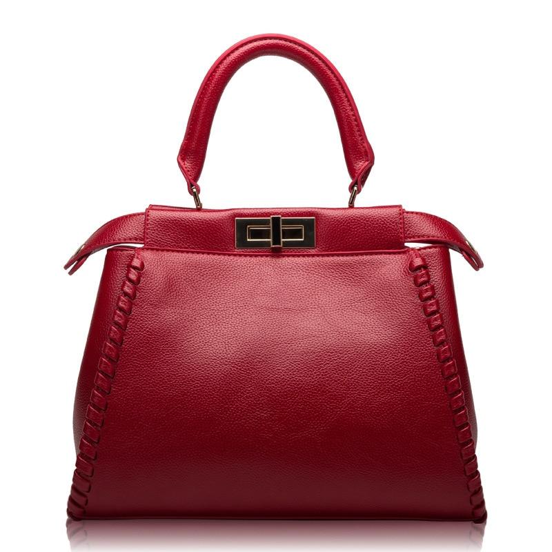 ФОТО 9398-5 Wholesale European style Spring 2017 Fashion Women Leather Bag Leather Handbag Satchel Shoulder Bag