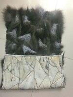 China Hot Sale Splicing Blue Fox Fur Plate / Fox Fur Skin Plate / Silver Fox Fur Plate