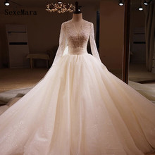 SexeMara Wedding Dresses Bridal Gowns With Full Sleeves