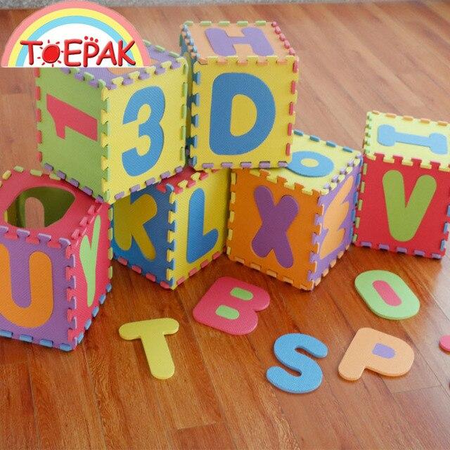 30X30 Alphabet Number Baby EVA Foam Playmat Kids Play Puzzle Mat Develop Crawling Rug Children Carpet Tiles Activity Toy