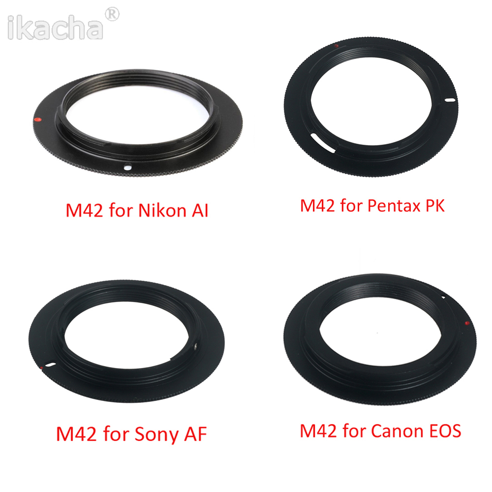 New Metal M42 Lens Adapter Ring Mount for M42 to for EOS AI AF PK for Canon Nikon Sony Pentax Camera m42 lens for sony body adapter ring
