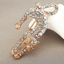 new arrival rhinestone persian brooches for women cute animal brooch pins dress brooch fashion jewelry high quality