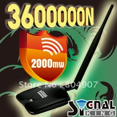 Free Shipping Signal King Signalking 360000N High Power Wireless Wifi Usb Wifi Adapter 2000mW 10dBi Omni Antenna
