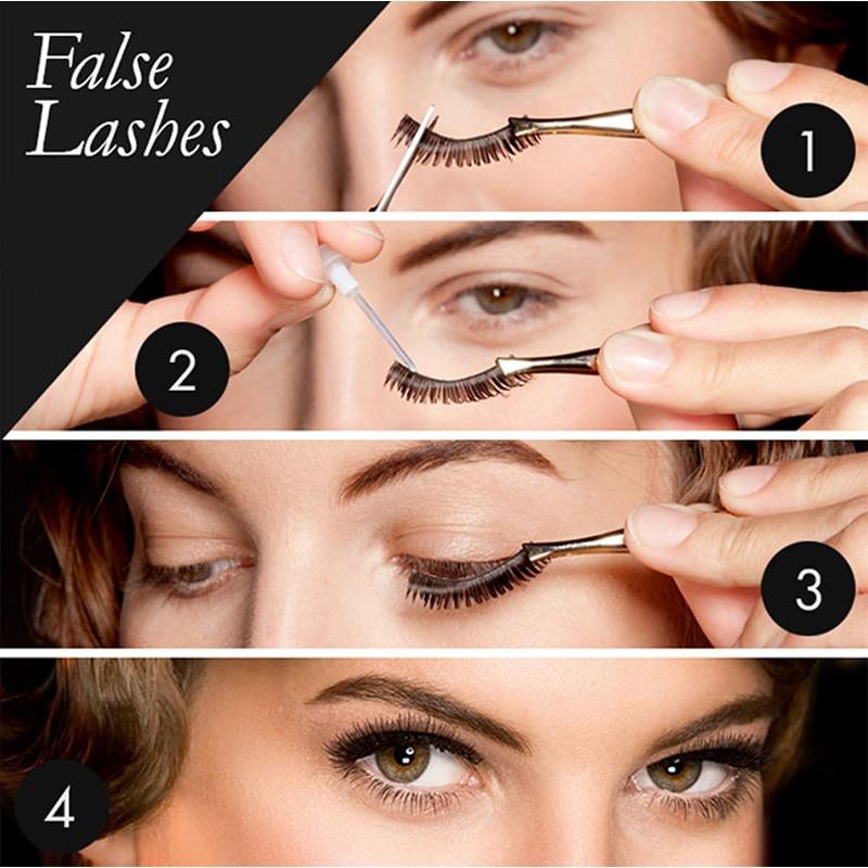 7b59fa16af8 GXO BEAUTY 10 Pairs Natural Black False Eyelashes Fake 100% HandMade Eye  Lashes Extensions Makeup Tools-in False Eyelashes from Beauty & Health on  ...