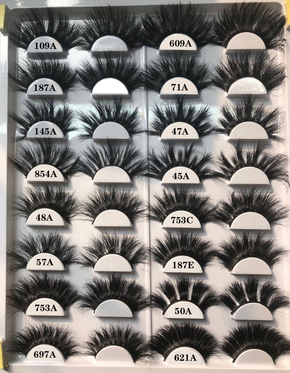 29 Styles 25mm Lashes Wholesale 100% Mink Hair Crisscross Thick Natural 3d Eyelashes Handmade Mink Lashes Makeup Fake Eyelashes