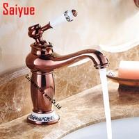 Bathroom Basin sink Faucets Mixer Brass Faucet Porcelain Mixer Tap Chrome/Antique/Rose gold oil rubbed bronze /antique black