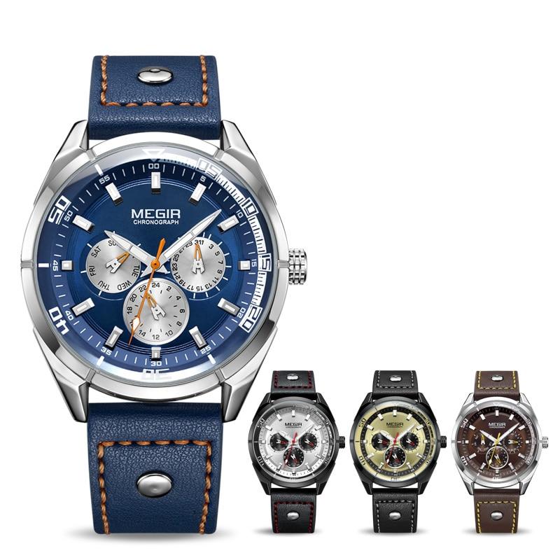 Megir luxe merk heren quartz horloges heren leger militaire - Herenhorloges - Foto 4