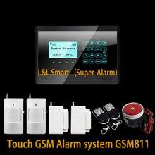 ЖКИ-Клавиатура Беспроводной Домашней Сигнализации GSM Сенсорный Система Безопасности Умный Дом Сигнализации