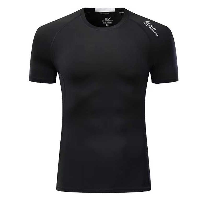 Top Tshirt Gym Jogging Pria Lengan Pendek T-shirt Taktis MMA Pakaian CrossFit T-shirt Menjalankan Olahraga Singlet Atasan