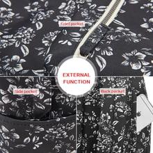 Fashion Floral Print Backpack Flower Pattern
