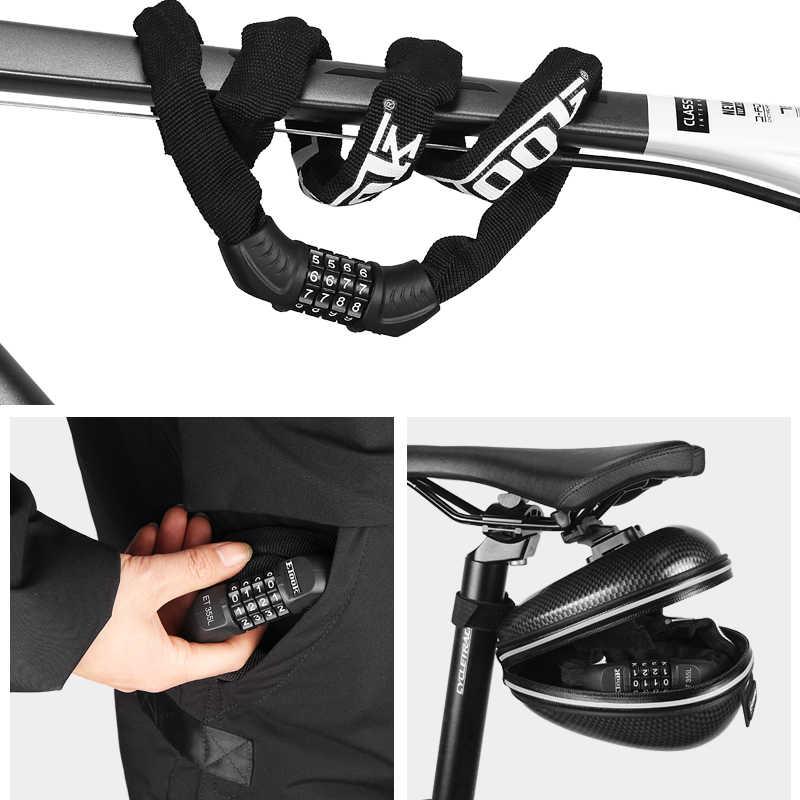 Etook Rantai Sepeda Kunci 4-Digit Kombinasi Kunci untuk Sepeda Motor Scooter Helm Anti-Theft Bersepeda Sepeda Lock kata Sandi
