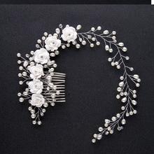 Women Charming Pearl Flower Hairband