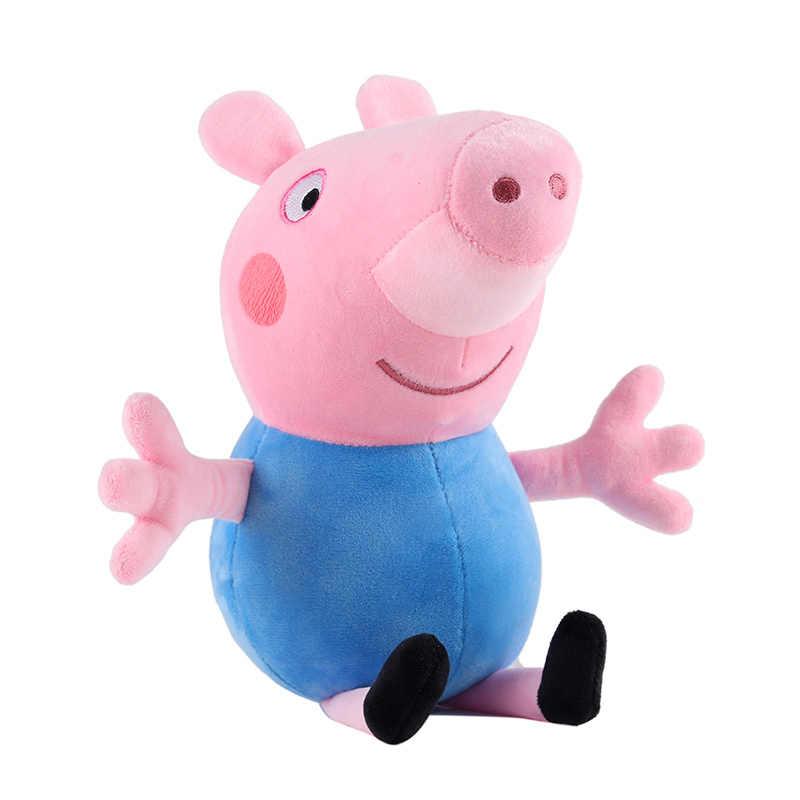 30 centímetros Originais Porco Cor de Rosa Menina George Pepa Pig Família Brinquedo Animal de Pelúcia Rosa Dos Desenhos Animados Boneca de Brinquedo Dom Christma menina da Criança