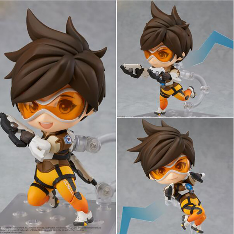 Nendoroid Tracer Lena Oxton PVC Action Figure Collectible Model Toy 11.5cm all characters tracer reaper widowmaker action figure ow game keychain pendant key accessories ltx1