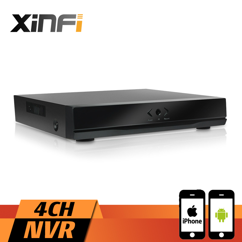 XINFI 4CH NVR Full HD 4 Channel Security Standalone CCTV NVR 1080P ONVIF 2.0 For IP Camera System 1080P Recorder renolux step 2 3 red