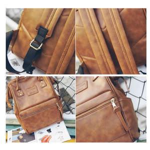 Image 4 - Women Fashion PU Leather Female Backpack Bag Korean Multifunction School Bag Teenage Girls Large Capacity Waterproof Backpacks