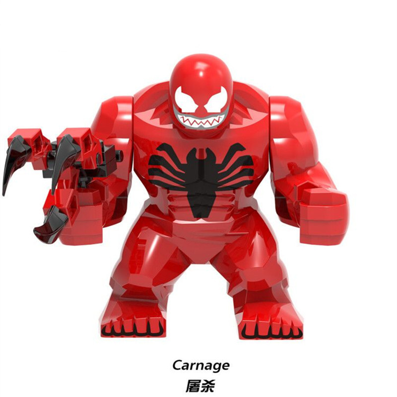 Blocks Toys & Hobbies Obliging Diy Blocks Marveled Super Heroes Deadpool Carnage Hulk Doctor Strange Carnage Venom Spider Man Supergiant Legoingly Figuretoys