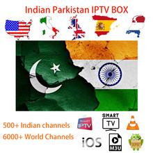 IPTV India Parkistan Bangladesh India Hindi Arabic India Android TV Box Tamil Punjabi Kannada Teleg Malayalam M3U untuk Smart TV(China)