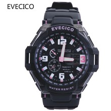 Led submersible waterproof dual display outdoor sports watch male multifunctional child table electronic watch