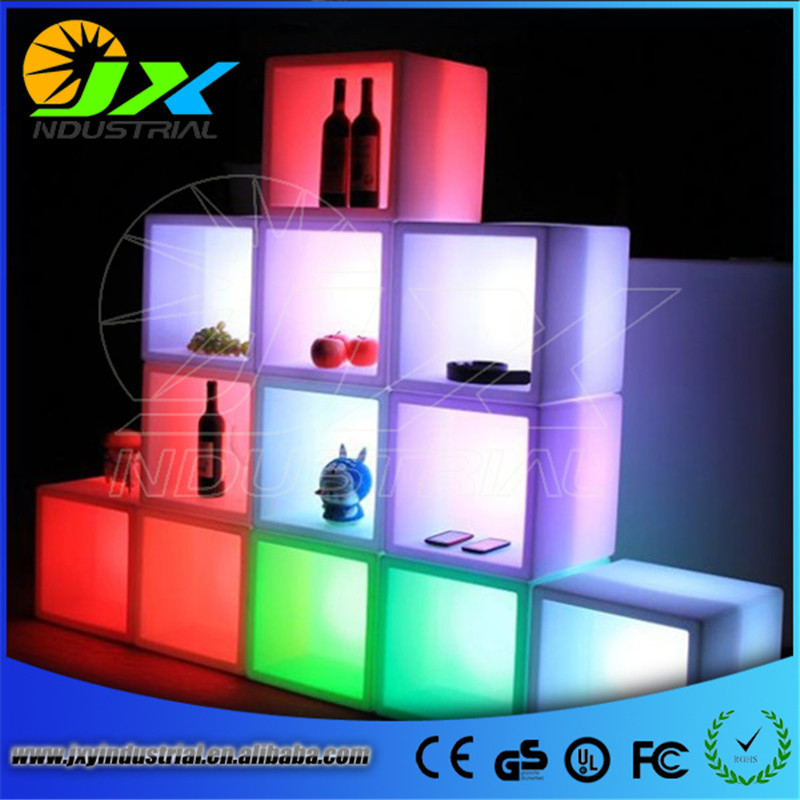 Free Ship Plastic Square LED Ice Bucket capacity 3.5L Double Layer Event Club Bars LED Beer Colorful Flash Light Pail ice cooler