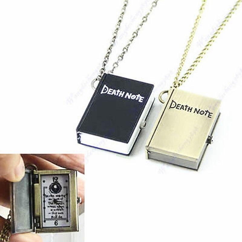 Anime Death Note DeathNote Necklace Charm Pendant pocket watch death note necklace japan anime l ryuuzaki zinc alloy silver necklaces retail bulk free shipping