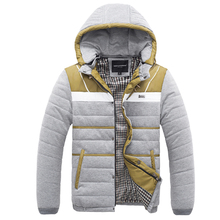 Men's 2016 winter thick warm coat hooded cotton padded jacket Slim Korean fashion tide men winter youth A029