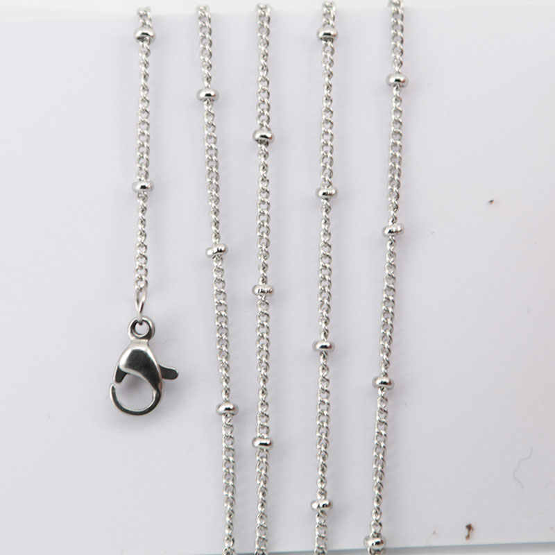 Ball station chain Necklace 316 stainless steel necklace for Pearl Cage & Diffuser oil Locket Women Girl Pendant