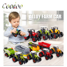 6 styles Taxiway Alloy Car Farm Car Children's Toys Simulated Engineering Model Vehicle Boy Children'S Day New Year Xmas Gifts