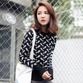 Women Sweaters and Pullovers 2017 Japanese Style Fishes Pattern Long Sleeve Knitting Pullover Knitwear sueter pull femme 2176