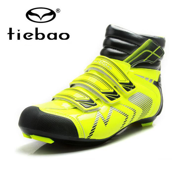 Tiebao Cycling Shoes Men Winter Windproof Road Bike Self-Locking Shoes Bicycle Ankle Boot Sapatilha Ciclismo Zapatillas tiebao black road bike shoes ultralight bicycle road shoes men cycling shoes self locking sport shoes zapatillas ciclismo