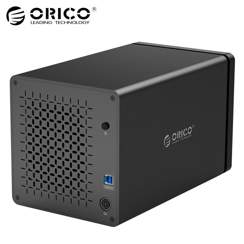 ORICO 4-Bay NS400U3 Ferramenta Livre 3.5 polegada 5 5gbps USB3.0 para SATA3.0 Disco Rígido UASP Doca HDD Recinto Caso