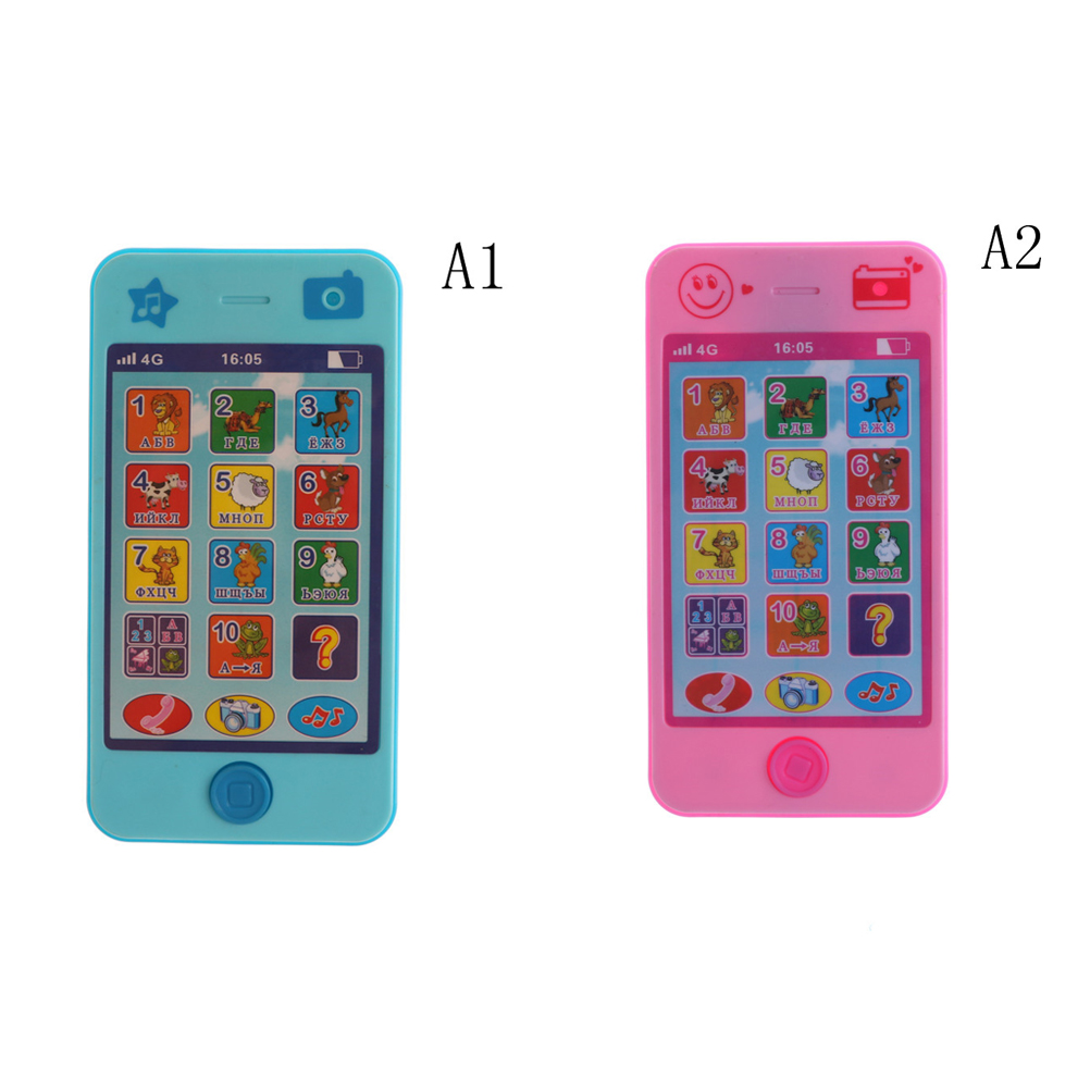 Russian Kids Baby Language ABC Alphabet Music Math Early Learning & Education Machines Mobile Phone Toy