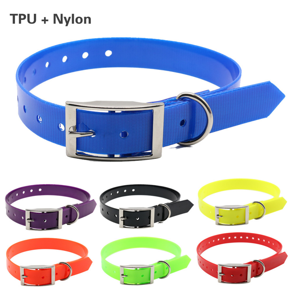 New Fashion pet dog collar High quality TPU+Nylon waterproof deodorant Resistant dirt Easy clean collars 7 Colors pet supplies