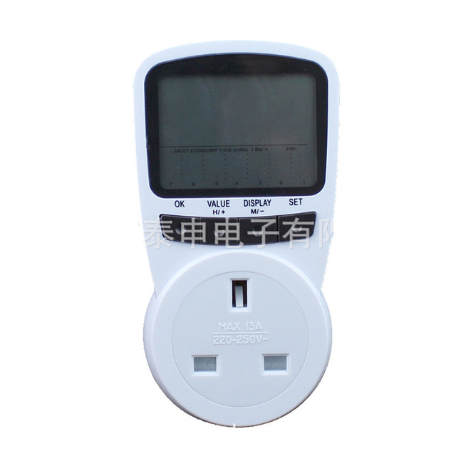 Puissance numérique tension dénergie Watt compteur de courant moniteur vérificateur testeur analyseur électrique compteur dénergie prise AC230V prise britannique